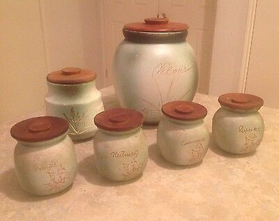 Vintage Ellis Pottery Canisters