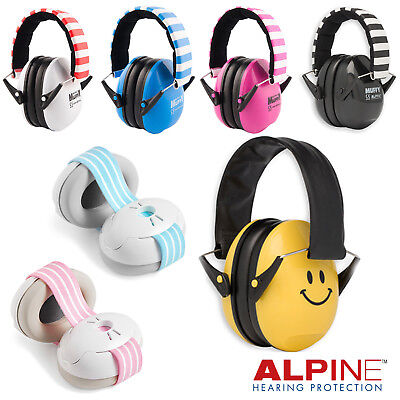 Alpine Baby Muffy Ear Defenders Earmuffs Hearing Protection For 3 Months+ & Bag