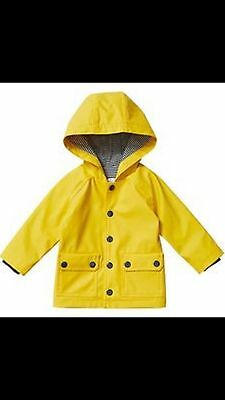 Boys Lined Quality Raincoat 18-24mths With Hoodie Size 1-2