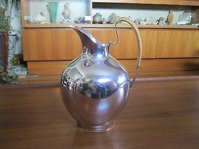 1950's 4Pint Sterling Silver Pitcher by International Modernist Mid Century Cane