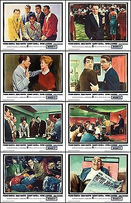 FRANK SINATRA OCEANS ELEVEN COMPLETE SET Of 8 Individual 11x14 LC Prints 1960