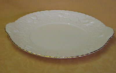 Unused Queens Royal Oak English Fine Bone China Embossed Cake / Sandwich Plate