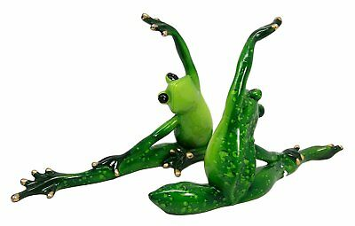George S. Chen Imports SS-G-61160 Green Frog Yoga Figurine