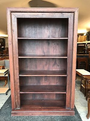 Superb Very Large Quality Solid Dark Oak Bookcase