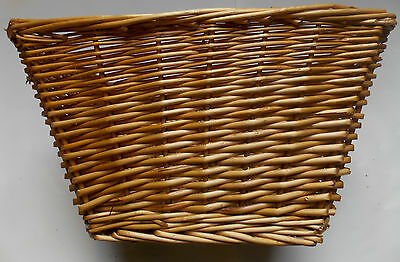 """16"""" Wicker Bike Basket Front/Rear Inc Straps Cycle Parts Cheapest"""
