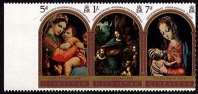 Gibraltar 1969 Christmas Complete Set SG 244 - 246 Unmounted Mint