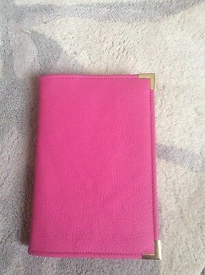 "Genuine Matt Pink leather song book cover ""sing out joyfully "" (Sjj-E)"