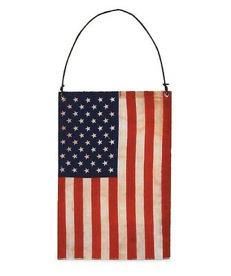 Bethany Lowe Americana Tin Flag Covered with Paper Ornament July Fourth New