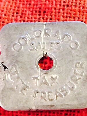 **FREE SHIPPING** VINTAGE - Colorado 1/5₵ Tax Token Series A35 Aluminum (lot548)