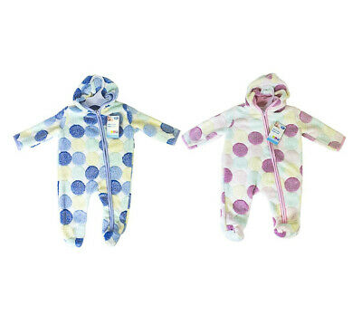 Size First Steps Super Soft Fleece All-in-One Baby Suit with Hood Choose Colour