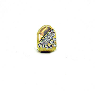 Single Grillz Corner of of Ice hiphop bling 24k Gold Plated Tooth Clip