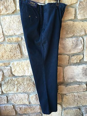 NEW POLO RALPH LAUREN Chino Blue Cotton Pants 34X32 NWT Men's Classic Fit
