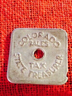 **FREE SHIPPING** VINTAGE - Colorado 1/5₵ Tax Token Series A35 Aluminum (lot545)