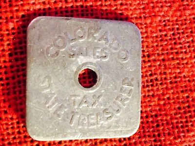 **FREE SHIPPING** VINTAGE - Colorado 1/5₵ Tax Token Series A35 Aluminum (lot547)