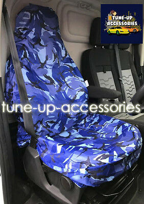 Dpm Single Camouflage Blue Seat Cover Fiat Scudo Combo 07-On