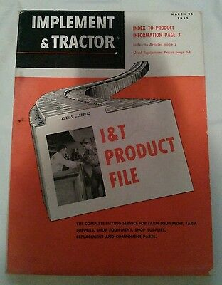 Implement & Tractor Product File Catalog March 26 1955 Parts Advertisements