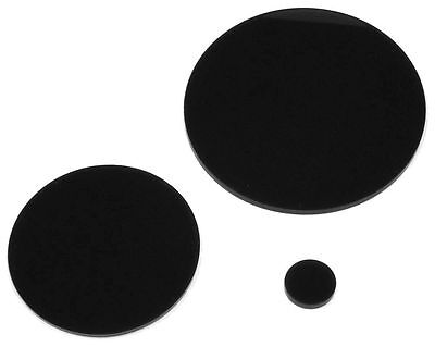 Shiny Gloss Black Laser Cut Plastic Circles 3Mm Thick Acrylic Discs Perspex