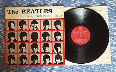 THE BEATLES -dal film TUTTI PER UNO  - LP PARLOPHON PMCQ 31504 RED ITALY 1964