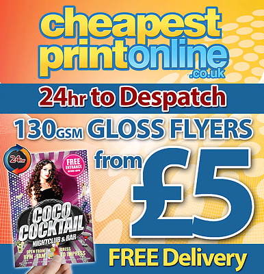 A4 / A5 / A6 Flyers / Leaflets Printed Full Colour On 130gsm Gloss from £5.00