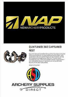 NAP Quiktune 360 Capture Rest Compound Archery Arrow Rest