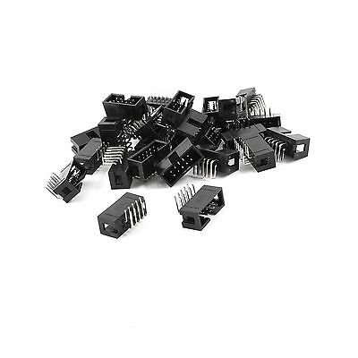 25Pcs 2x5 Pins 2.54mm Pitch Right Angle Connector Pin IDC Box Headers