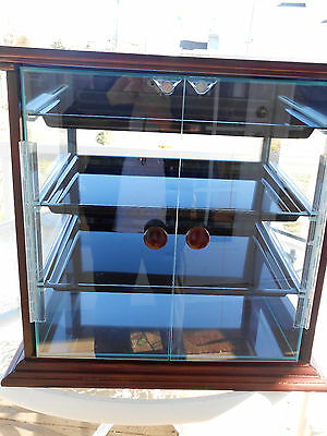 Cal Mil 3 Tier Wood Counter Display Case For Muffins, Bakery, Pastry 284-S-52