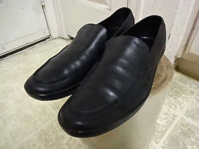 Ferragamo Shoes Made In Italy Men 10.5 D Black Leather Slip On