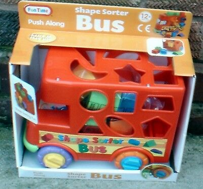 Push Along Shape Sorter Bus  Brand New And Boxed