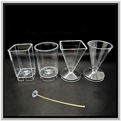 Good Quality Moulds for Candle Making - 4 Shapes