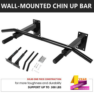 Wall Mounted Brackets Chin up Upper Bar Heavy Duty Body Exercise Training Home