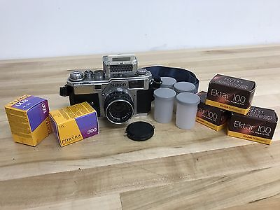 Nikon S3 Rangefinder 35mm Camera w/ Nikkor 0.5m Lens & Accessories