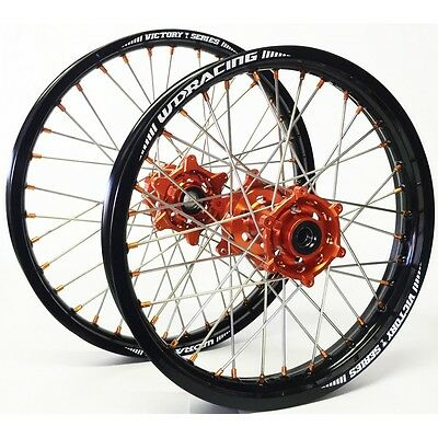 RADSATZ FELGEN RÄDER WHEELS KTM EXC 125 250 350 450 1,60x21 2,15x18 ORANGE 04-17