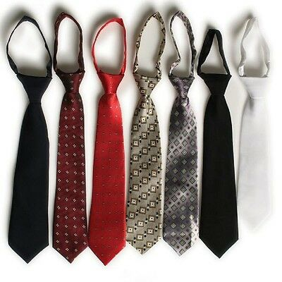 Boys Neck Tie Ties Zipper Easy Off / On Ties Infant - Boys 14 Red, White, Khaki