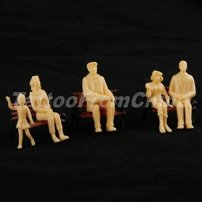 20 Model People Figures for Train Architecture Scenery Layout 1:25 Scale Plastic