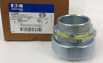 """Qty 1 Eaton Crouse Hinds, LT200 2"""" Straight Male Connector w/o Insulated Bushing"""