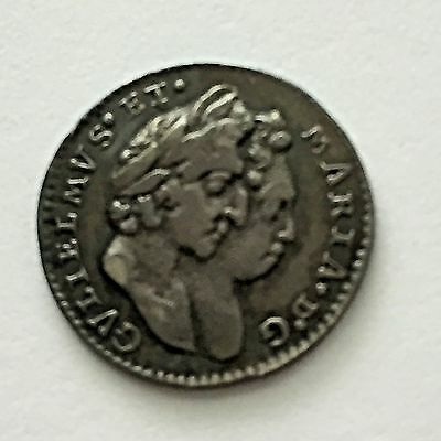1694 Maundy Twopence 2d, Superb, William & Mary, Great Britain, UK
