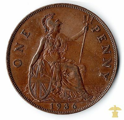 1936 One Penny Of George V   - Uncirculated #370