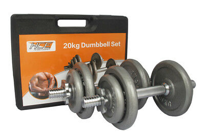 NEW 20kg Dumbbell Set With Carry Case