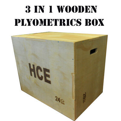 NEW 3 In 1 Wooden Plyometric Box