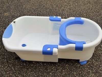 Safety 1St First Bath Tub With Chair Toddler White/blue