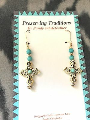 Two-tone Angel Dangle Earrings handmade sterling beads, wires & 14kt gold beads
