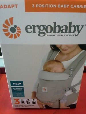 Ergobaby Adapt 3 Position Baby Carrier Pearl Grey Brand NEW  FREE SHIP