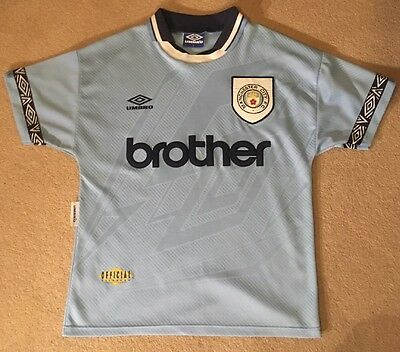 Manchester City 1993/1994 Home Shirt (Small - S)