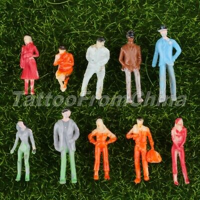 100pcs New Painted Railway Passengers Model for Train Layout Scenery 1:100 Scale