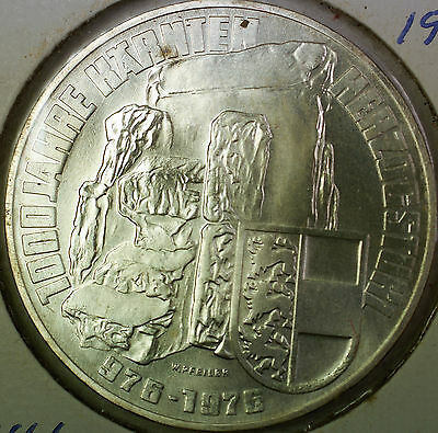 1976 Austria 100 Schillings 900 Years Carinthia Uncirculated Silver Coin