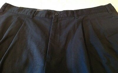 Callaway Golf Casual Shorts Pleated Front Men's Size 40 Navy Blue  Cotton