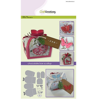 CraftEmotions Die - chocolate box butterfly Card A5 box 55x43x40 mm 331504