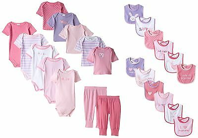 24 Piece Newborn Baby Girl Clothes Set 0-3 Months Outfit Infant Shower Gift Lot