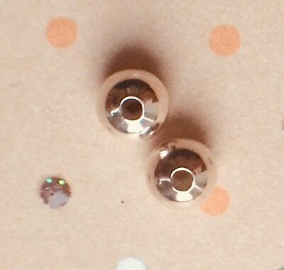 4 5Mm Round Sphere Bali .925 Silver Barrel Spacer Beads Jewellery Making Round