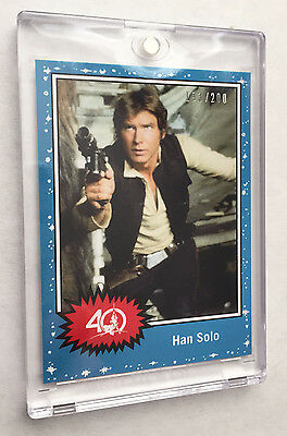 Star Wars Celebration 2017 Topps 40th Anniversary Promo Card Han Solo 193/200